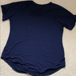 Tops - 100% cotton XXXL Navy pocket tee
